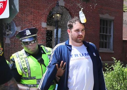 A free-speech rally, minus the free speech